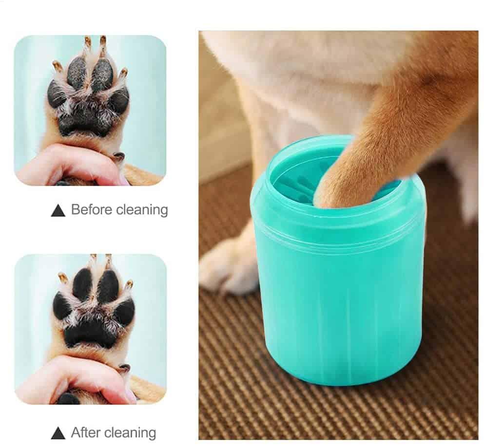 Dispozitiv pentru curățarea labelor câinilor